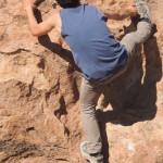 Climbing in the Lava Rocks